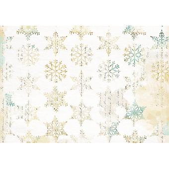 3 Decopatch Paper Sheets - Christmas Snowflakes | Decoupage Crafts