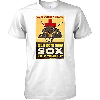 Unsere Jungs brauchen Sox - WW2 Propaganda Poster - alliierte Weltkrieg - Herren-T-Shirt