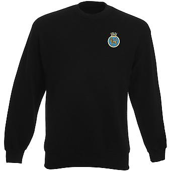 HMS Superb Embroidered Logo - Official Royal Navy Heavyweight Sweatshirt