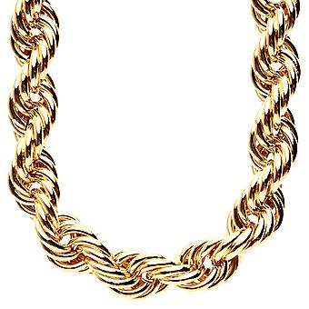 Heavy rope DMC style hip hop necklace - 16mm gold