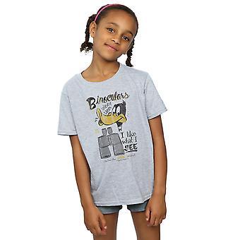 Looney Tunes Girls Daffy Duck Binoculars T-Shirt