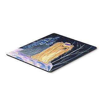 Carolines Treasures  SS8365MP Starry Night Yorkie Mouse Pad / Hot Pad / Trivet
