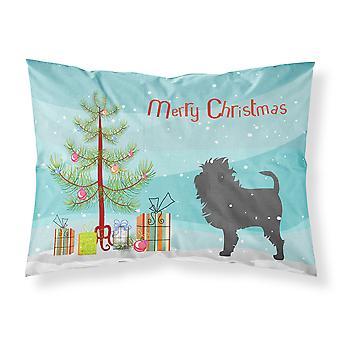 Affenpinscher Merry Christmas Tree Fabric Standard Pillowcase