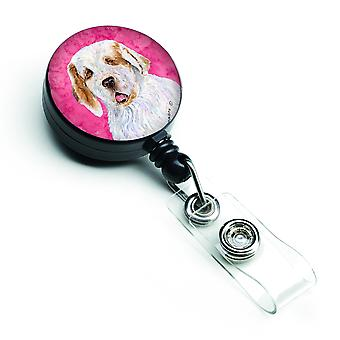 Clumber Spaniel  Retractable Badge Reel or ID Holder with Clip SS4776