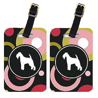 Carolines Treasures  KJ1069BT Pair of 2 Welsh Terrier Luggage Tags