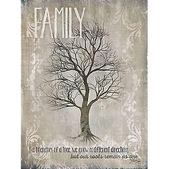 Familie - zoals takken van een boom Poster Print by Marla Rae (18 x 24)
