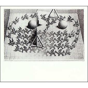 Magiska spegel affisch affisch Skriv av MC Escher