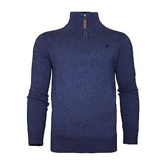 Trésorerie/Cott tricoté 1/4 Zip - minuit