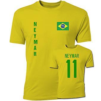 Neymar Brazil Flag T-Shirt (Yellow)