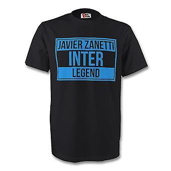 Javier Zanetti Inter Milan legenden Tee (svart)