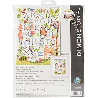 Wooded Alphabet Counted Cross Stitch Kit-9