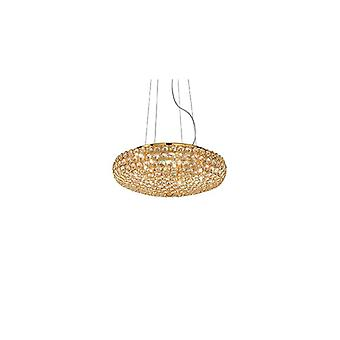 King Small Gold Pendant - Ideal Lux 87986