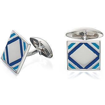 925 Silver Enamel Fashionable Cufflink