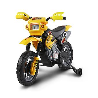 Kids Electric 6V Battery Power Ride On Motorcycle Yellow