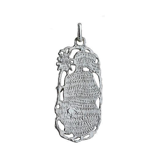 Silber 33x17mm Leo Sternzeichen-Anhänger