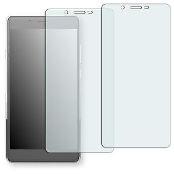 Archos 55 cobalt plus screen protector - Golebo Semimatt protector (deliberately smaller than the display, as this is arched)
