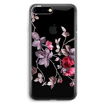 iPhone 7 Plus custodia trasparente (Soft) - fiori molto carini