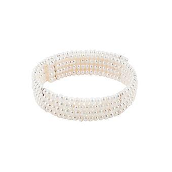 Lady Diana weiße Perlen und Gold vergoldete Halskette