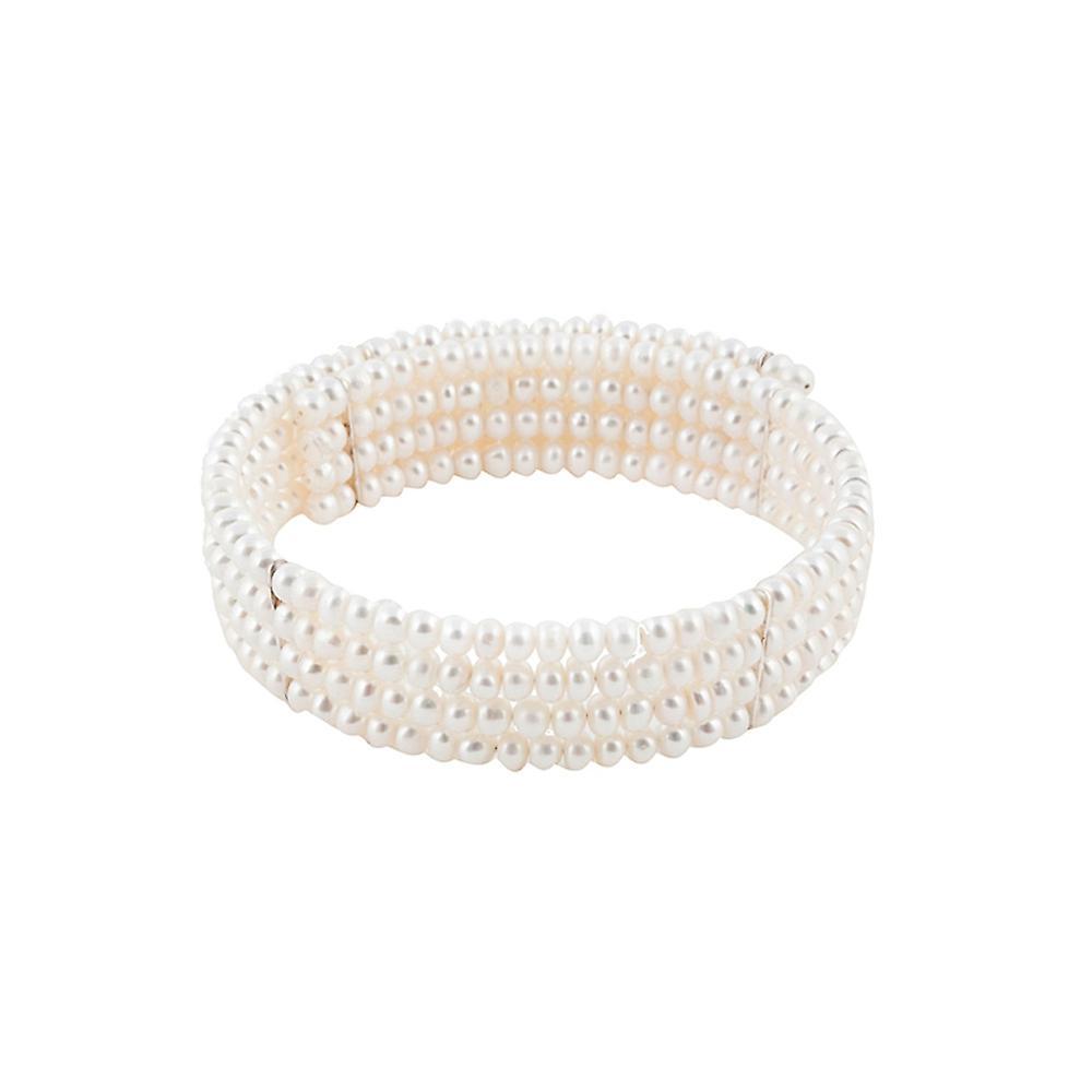 Collier de Perles blanc de Lady Diana et Plaqué Or