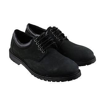 Steve Madden Herren schwarz Nubuk Leder Casual Lace Up Oxfords Schuhe