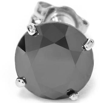 3/8ct Black Diamond Stud 10K White Gold