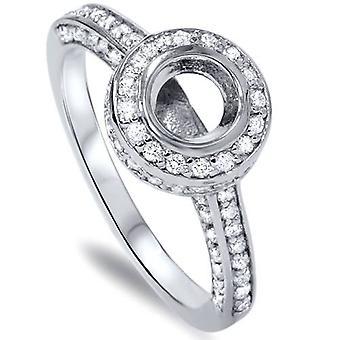 3/4ct Diamond Engagement Semi Mount Ring 14K Setting