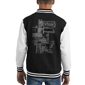 ZX Spectrum Computer Schematic Kid's Varsity Jacket