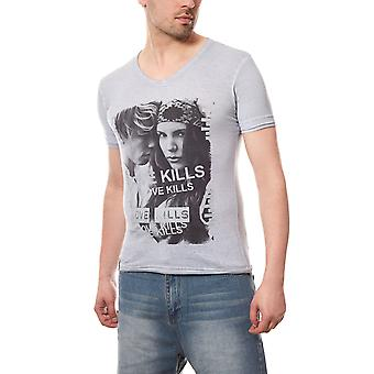 RUSTY NEAL Love Kills Herren T-Shirt Grau Regular