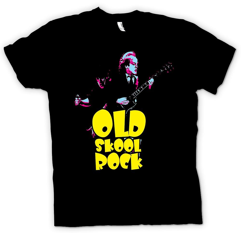 Womens T-shirt - AC/DC - Old Skool Rock - gitarr - rockband - nya