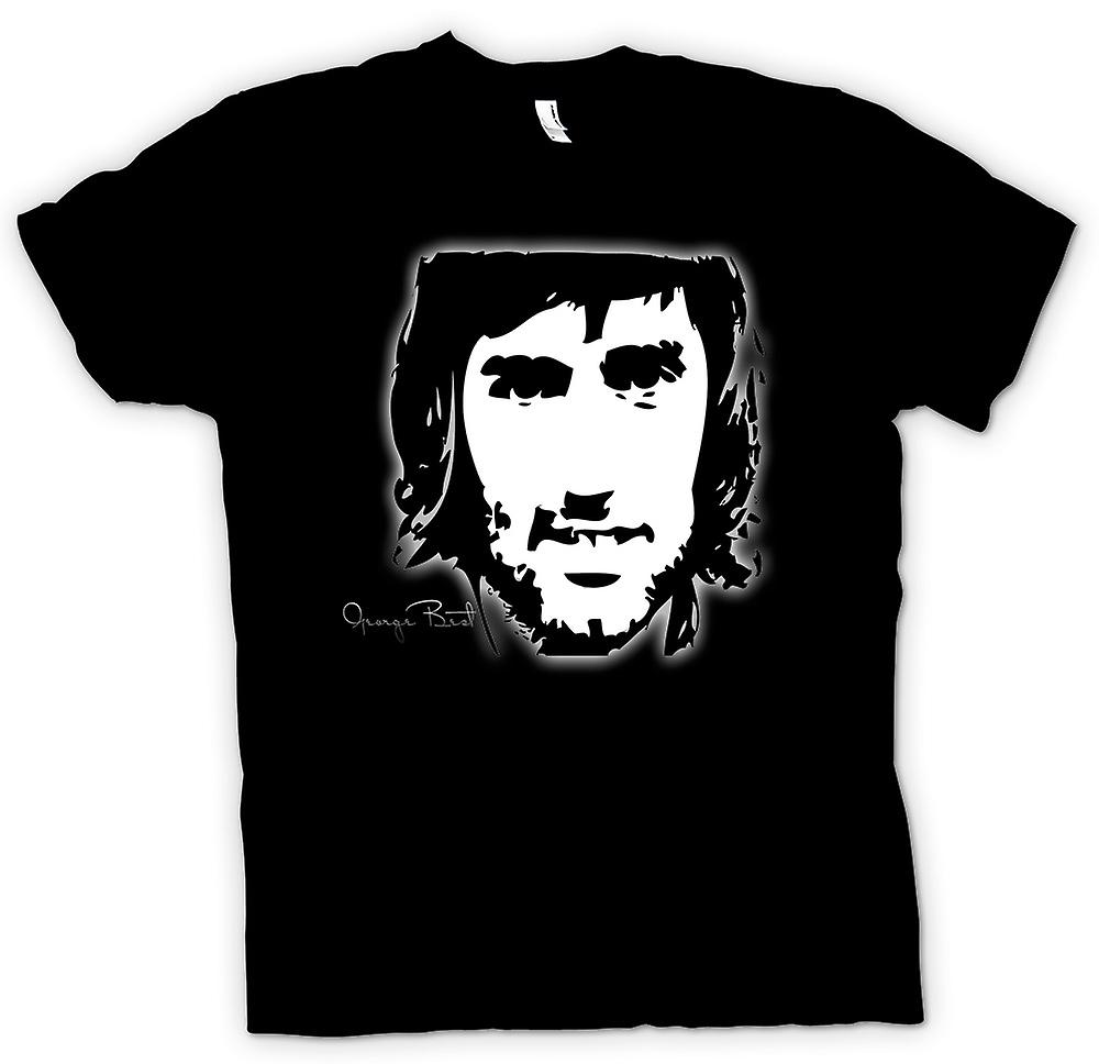 Mens T-shirt - George Best - BW - voetbal