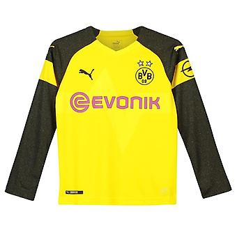 2018-2019 Borussia Dortmund Long Sleeve Home Puma Shirt (Kids)
