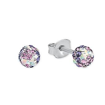 Princess Lillifee children earrings silver crystals purple 2013162