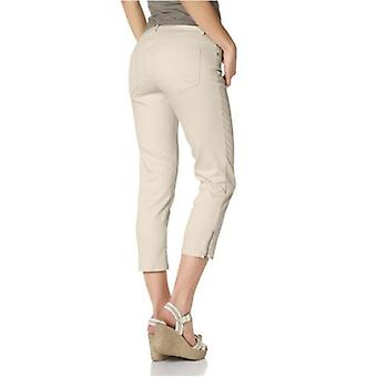 7/8 Skinny Jeans with gold zipper beige CORLEY