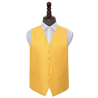 Sunflower Gold Solid Check Wedding Waistcoat