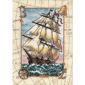 Gold Petite Voyage At Sea Counted Cross Stitch Kit-5
