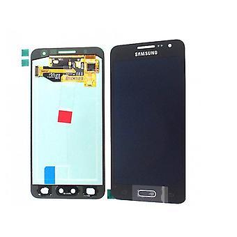 Samsung Galaxy A3 LCD Assembly - preto - Serviço Pack