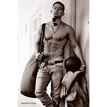 Channing Tatum Topless affiche Poster Print