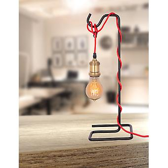 INDUSTRIAL LOOK TABLE LAMP DESIGN TABLE LAMP LIGHT MODERN RED BLACK