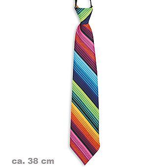 Tie colorful Rainbow clown Rainbow accessory 38cm