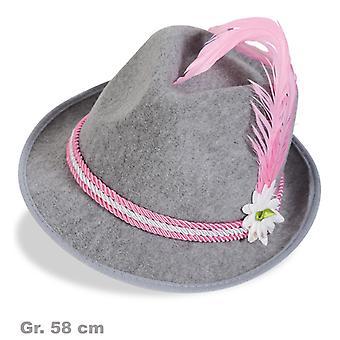 Bayern Hat Seppelhut Herrnhut Bavarian Oktoberfest Hat pink
