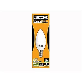 1 X JCB 3w = 25w LED Opal Candles - 3000k - Warm White (3w = 25w, Small Edison Screw (SES))[Energy Class A+]