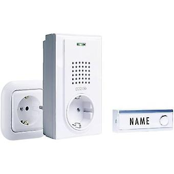 m-e modern-electronics FG-2.2 Wireless door bell Complete set with nameplate