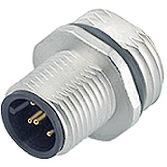 Binder 09-3431-578-04 M12 Sensor / Actuator Connector, Screw Cap, Straight