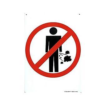 Geen Fa * Ting Metal Sign (symbool)