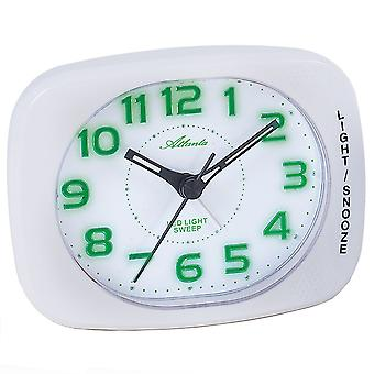Atlanta 1950/0 clock quartz cream white green quietly without ticking with light Snooze