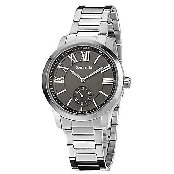 ORPHELIA Mens Analogue Watch Fine craft Silver Stainless steel 122-7704-48