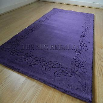 Rugs -Floral Border - Purple