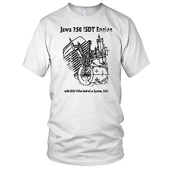 Jawa 250 ISDT motor Diagram klassiske motorsykkel motorsykkel Biker Mens T skjorte