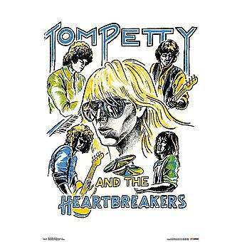 Tom Petty - illustrierte Poster drucken