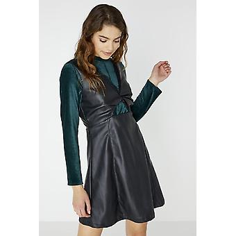 Girls on Film Olympe Twist Front Leather Dress